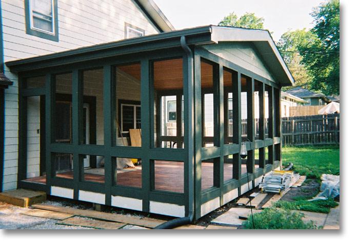 Homeworks inc for Enclosed deck plans